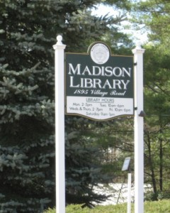 Madison Library Sign