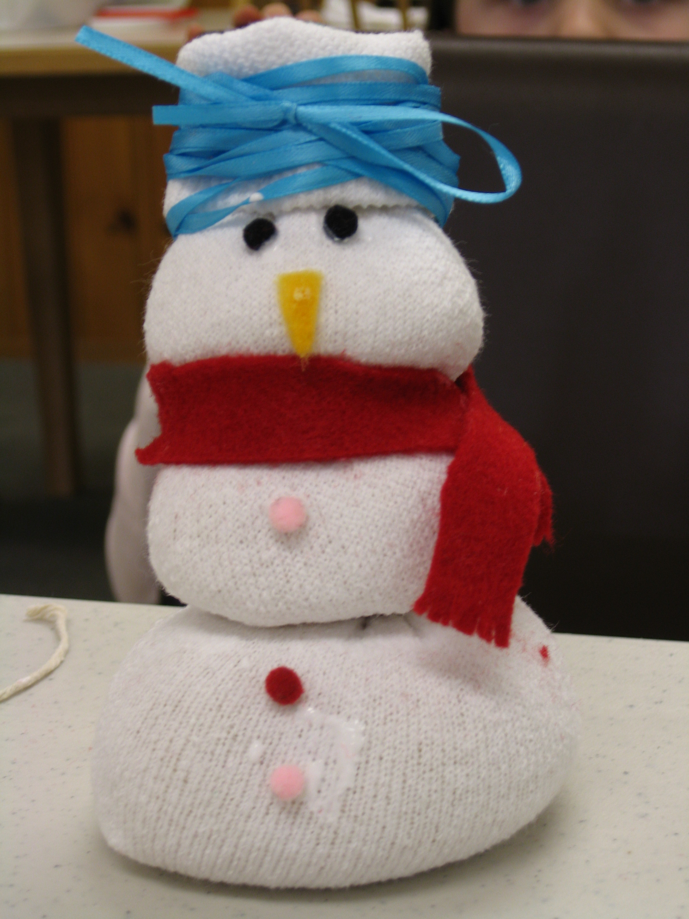 ... stories and this snowman craft, made out of a sock filled with rice